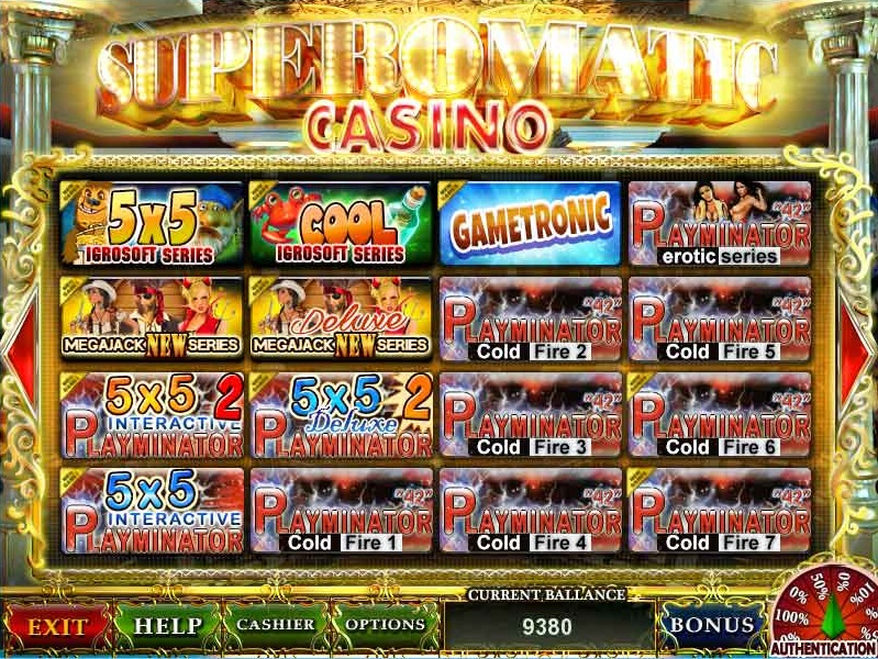 Superomatic Casino для клубов